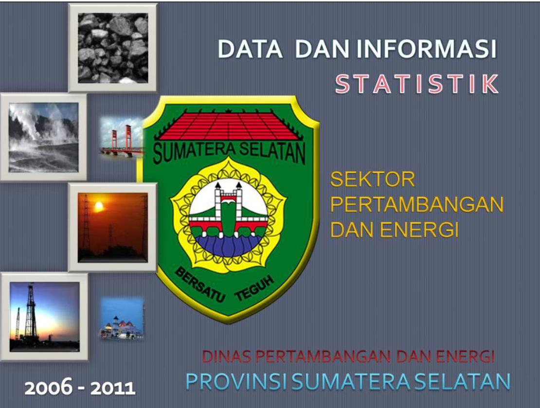 Data dan Informasi Statistik Sektor Pertambangan dan Energi Provinsi Sumatera Selatan 2006-2011