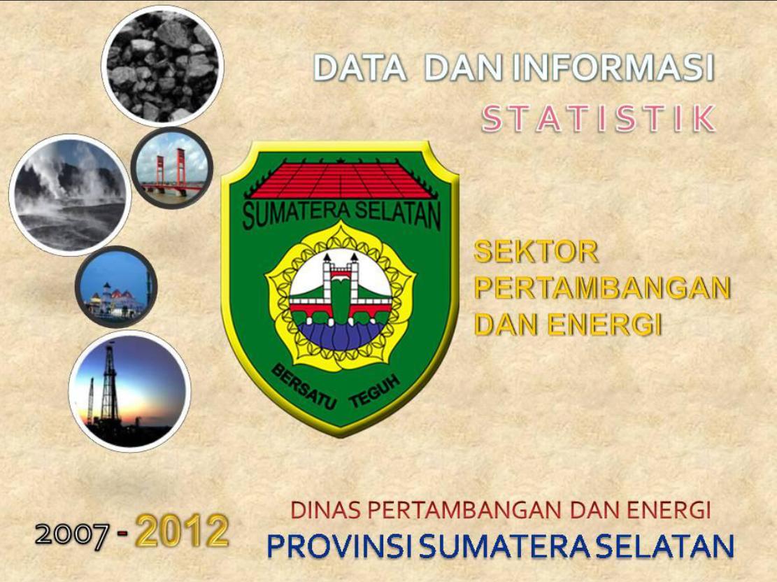 Data dan Informasi Statistik Sektor Pertambangan dan Energi Provinsi Sumatera Selatan 2007-2012
